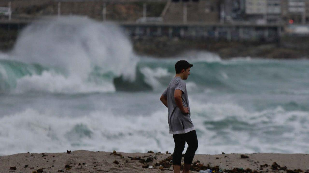 .El mar, en la zona de Riazor-Orzán de A Coruña
