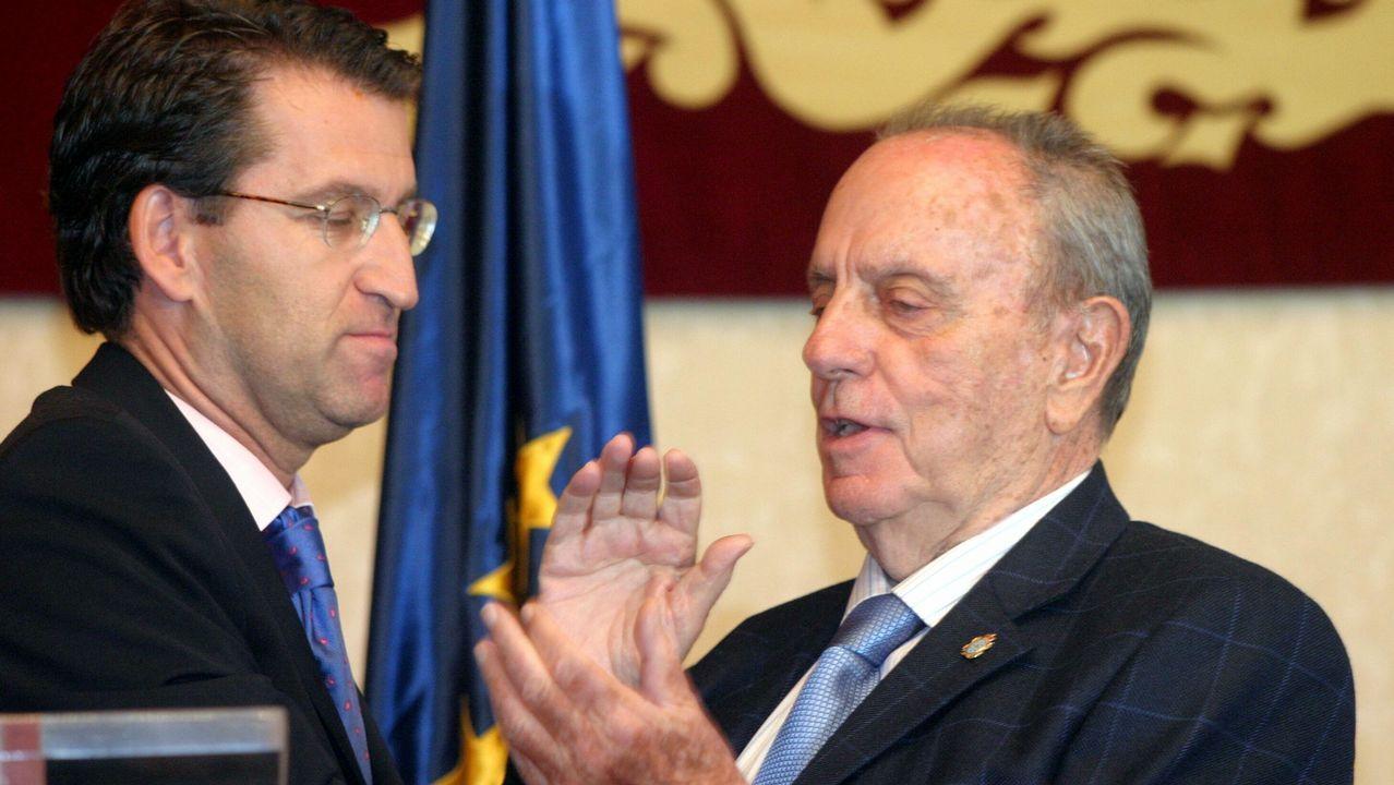 Toma de posesión de Feijoo como vicepresidente de la Xunta en septiembre del 2004. Ejerció el cargo hasta agosto del 2005.