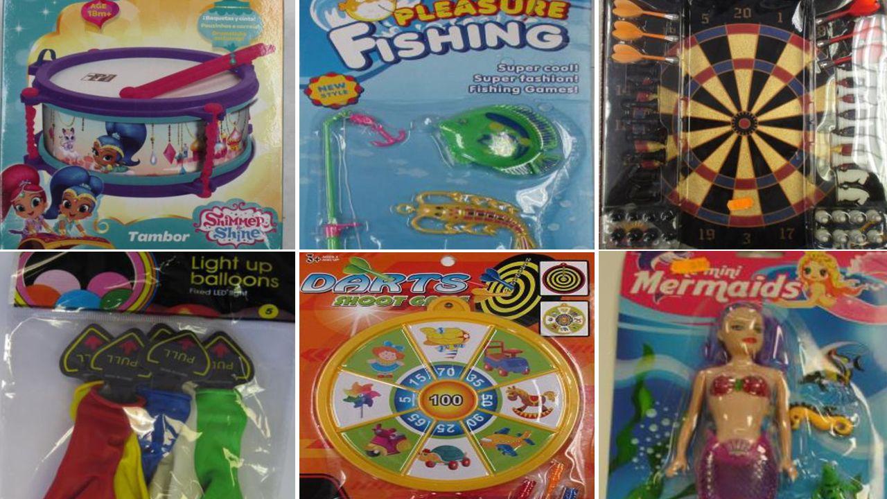 «Hay quien pide créditos personales para comprar los juguetes».Productos retirados del mercado por la Agencia Española de Consumo
