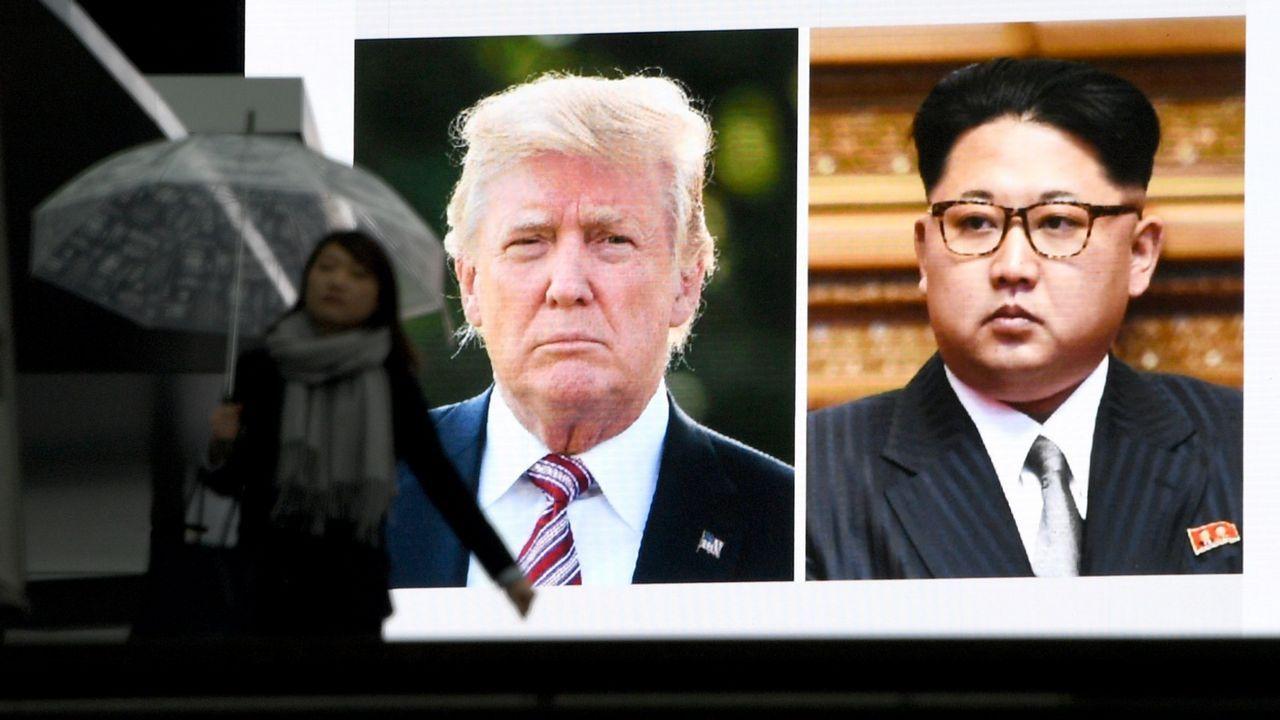 Corea del Norte anuncia que suspende sus pruebas nucleares.Kim Jong-Un y Donald Trump