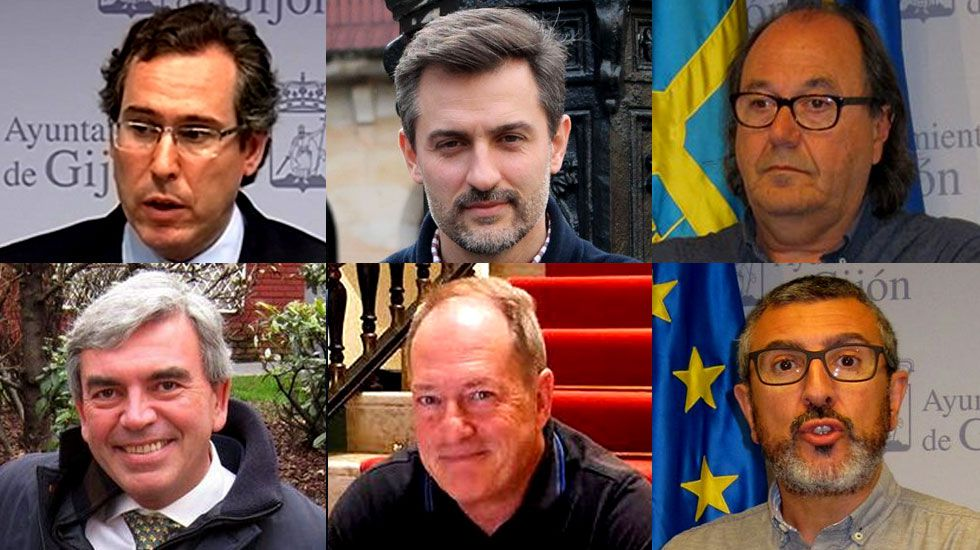 Imagen de la nube de contaminación en Gijón tomada por la Coordinadora Ecologista.Fernando Couto, José María Pérez, Mario Suárez, Mariano Marín, Aurelio Martín y José Carlos Fernández Sarasola