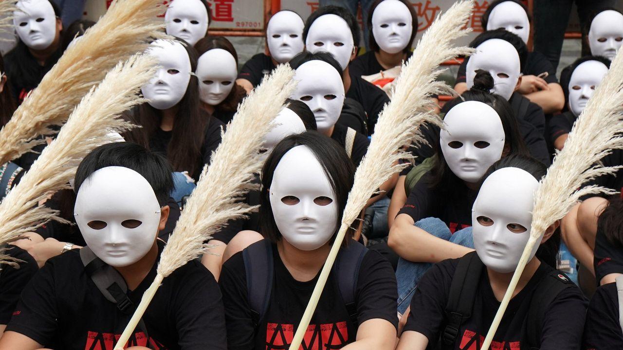 Mujeres durante una protesta conta la prostitución