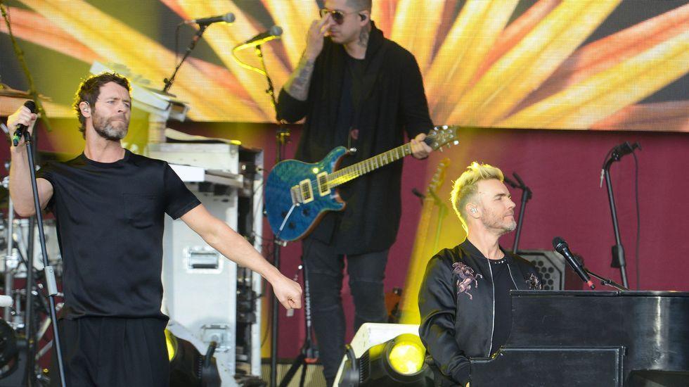 Howard Donald y Gary Barlow de Take That