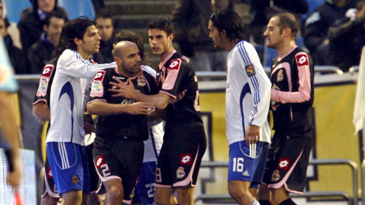 Tangana en la Romareda con otros exdeportivistas como Abel Aguilar o Lafita implicados