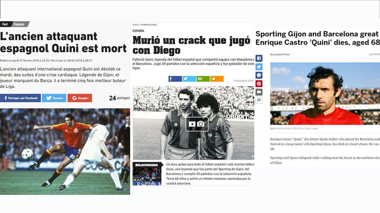 Guardiola se quita el sombrero ante el Real Madrid.La muerte de Quini en la prensa internacional