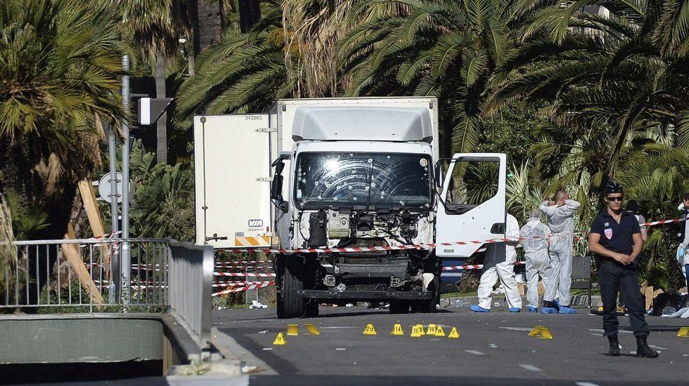El camión usado en Niza