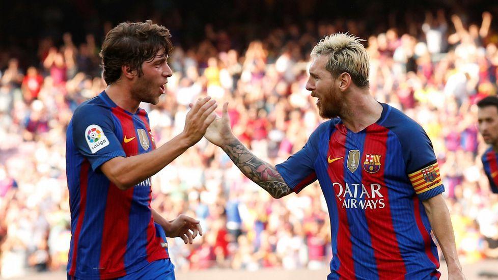 Real Madrid - Barcelona, en imágenes.Sergi Roberto y Messi, cara y cruz del Barça para medirse al Dépor