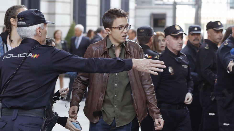 Errejón deja su escaño en el Congreso de los Diputados.El portavoz en el Congreso de Podemos, Íñigo Errejón a su llegada al Congreso