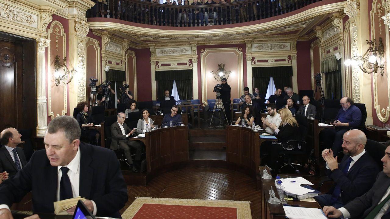 Evaristo García, en el centro de la imagen