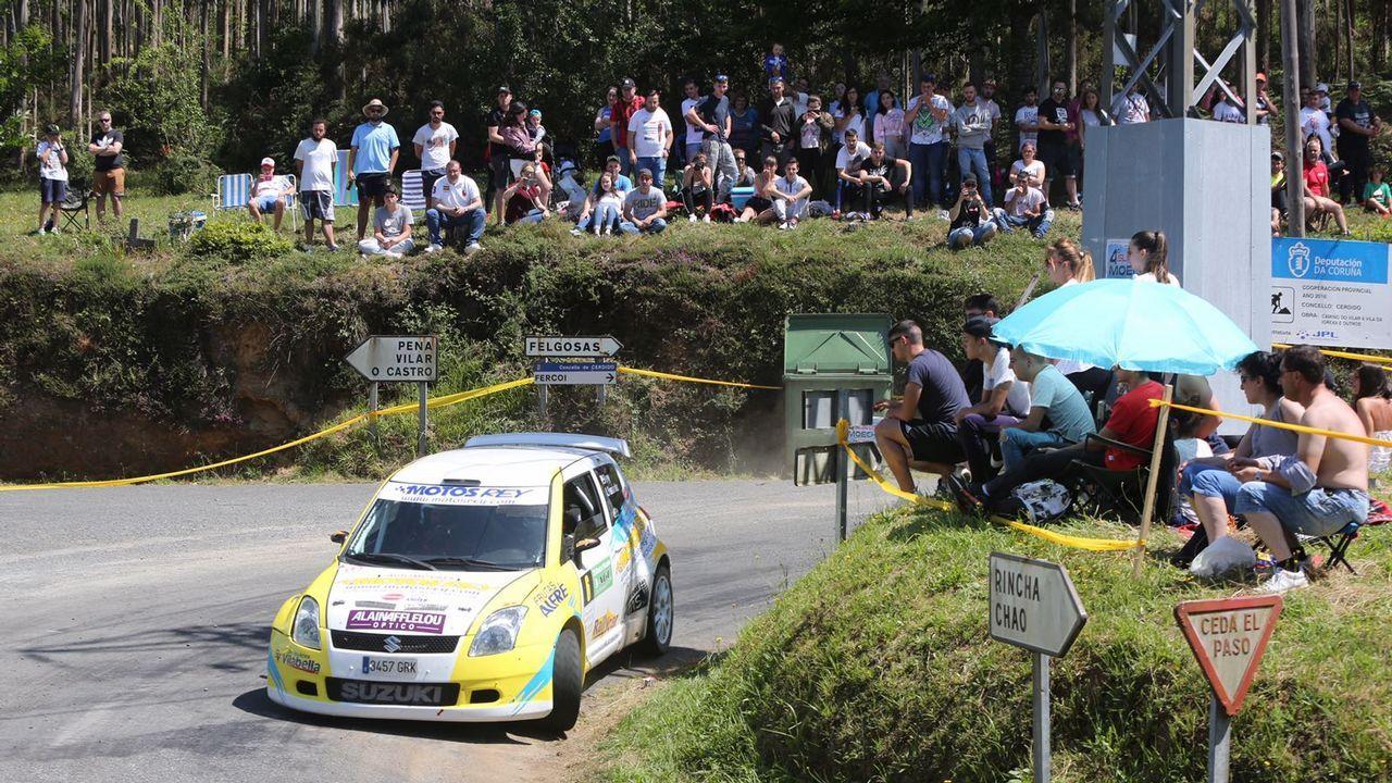 Las mejores imágenes del rali Cidade de Narón.Alonso y Gené durante la etapa del piloto asturiano en Ferrari, en 2011