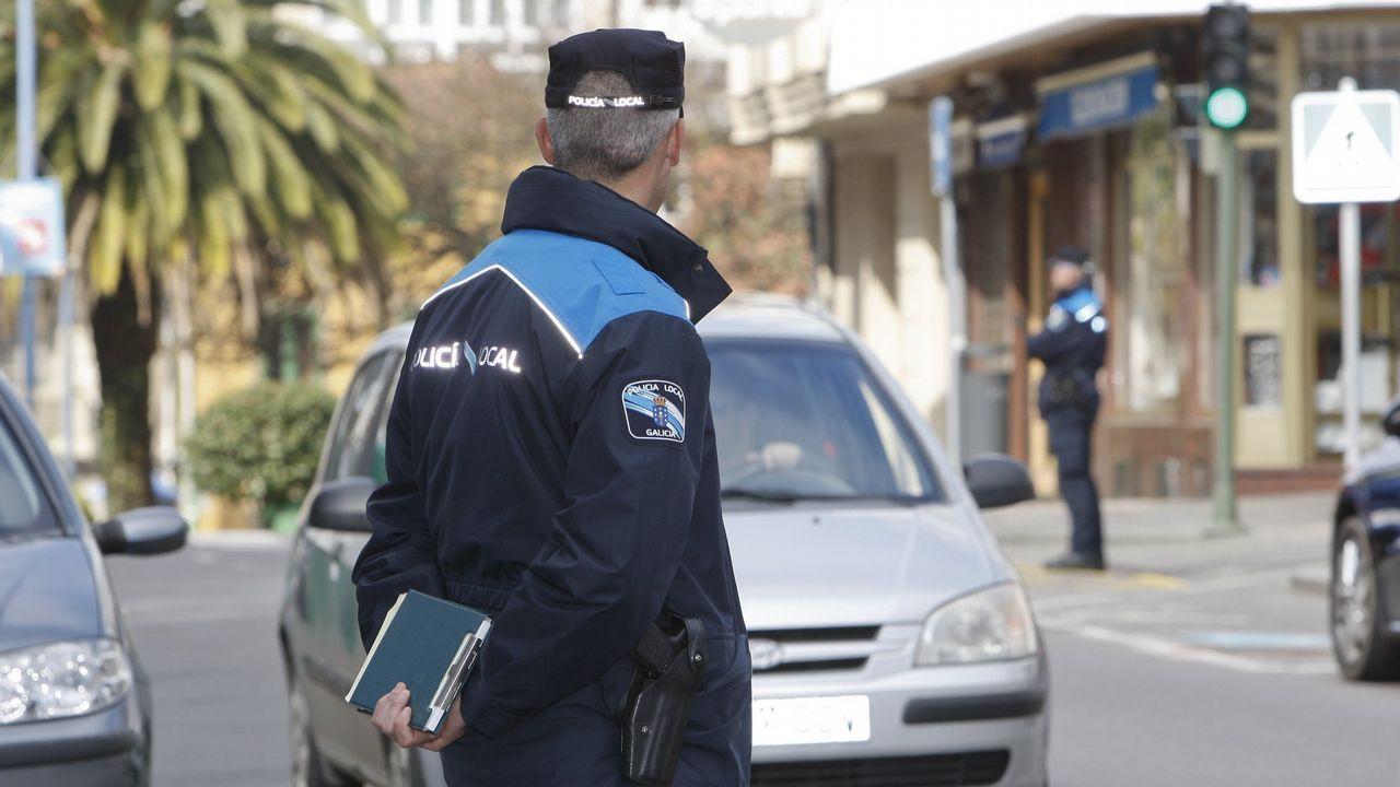 Imagen de archivo de una campaña de control de uso del cinturón de seguridad