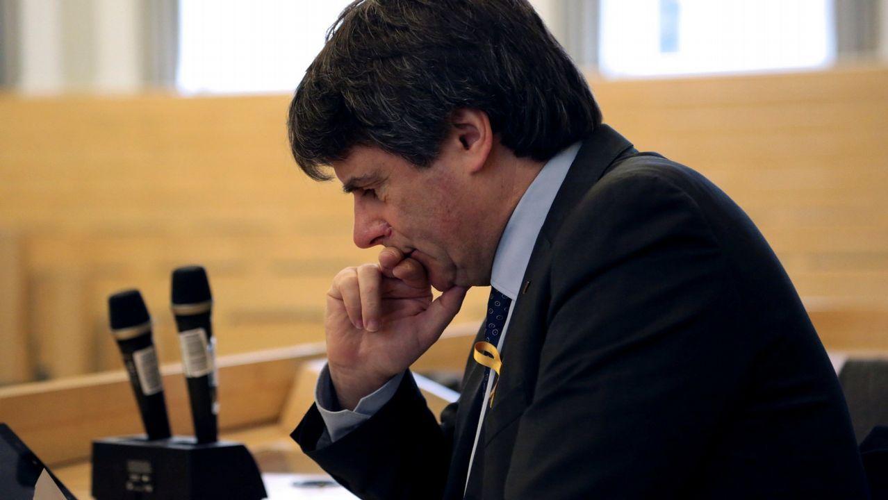 | EFE.Torra, con Puigdemont, en su último encuentro en Waterloo, a donde el presidente catalán acude cada vez que tiene que tomar una decisión importante