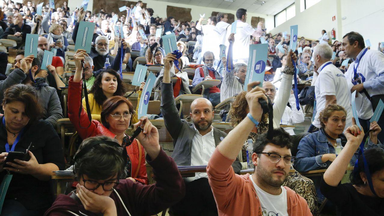 Manifestación en defensa de las urgencias y la sanidad pública.Imagen de la votación en el plenario del 27 de octubre. En la segunda fila, Luís Villares