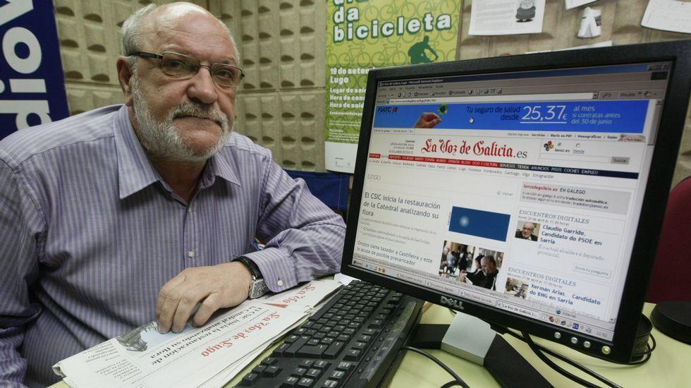 Claudio Garrido, en un encuentro digital con los votantes antes de las elecciones municipales del 2011