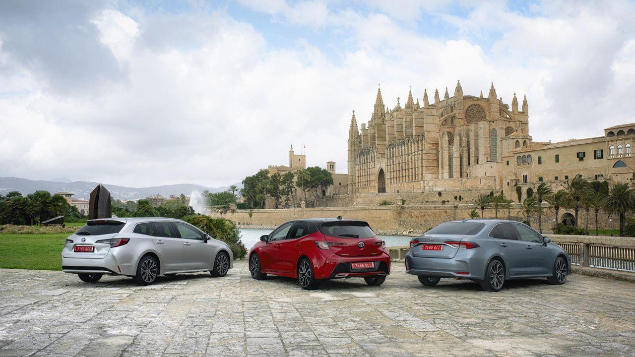 Tres modelos del Toyota Corolla