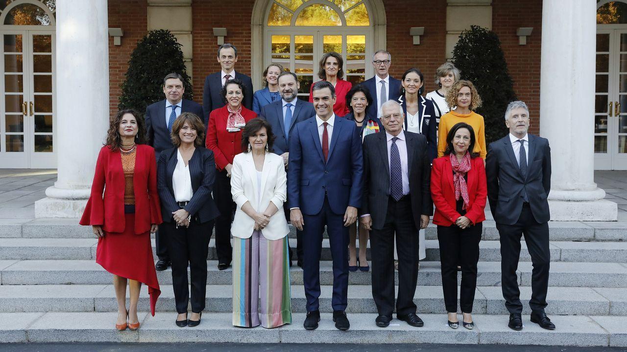 Oficina de empleo.Foto de familia de los ministros del Gobierno de Pedro Sánchez