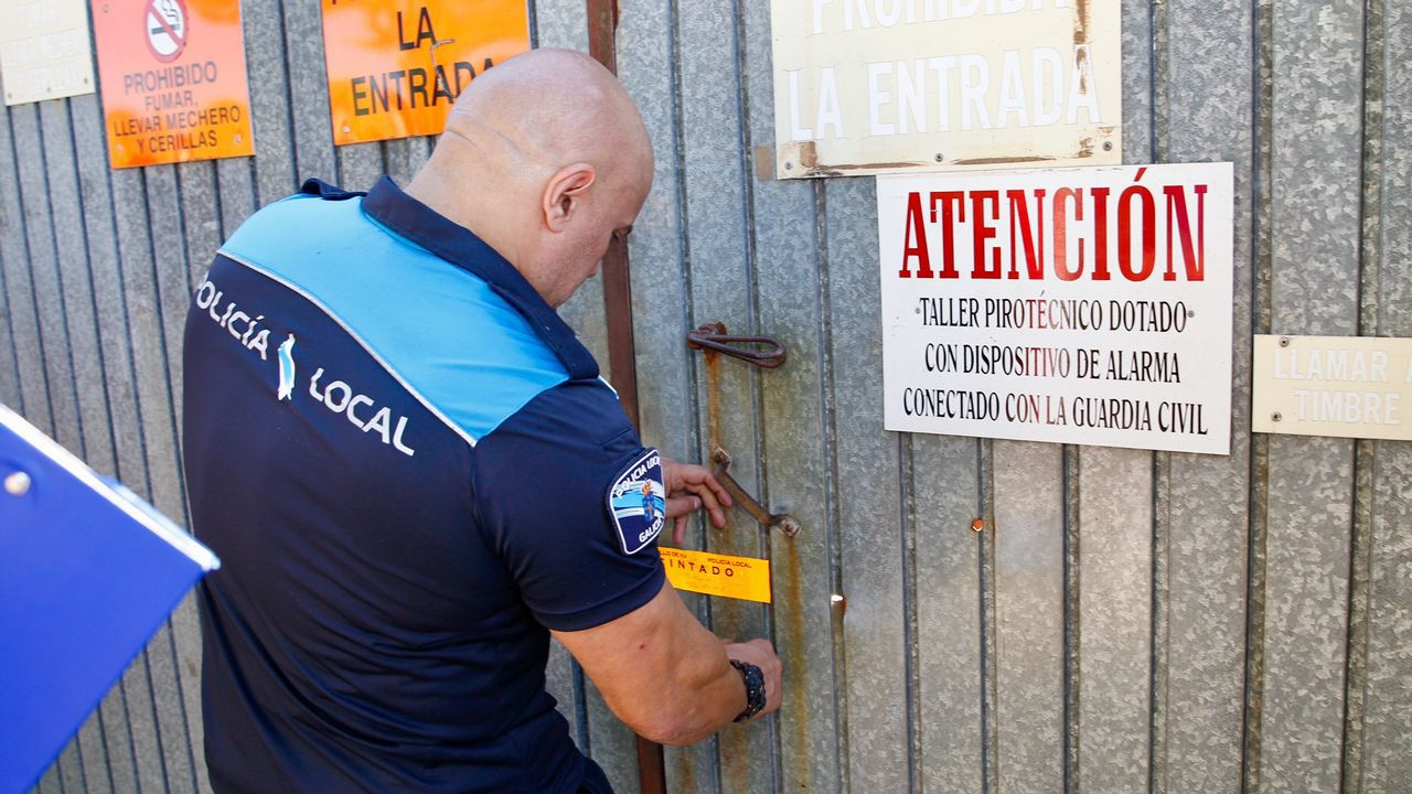 Tui precinta la pirotecnia del dueño del almacen ilegal de explosivos