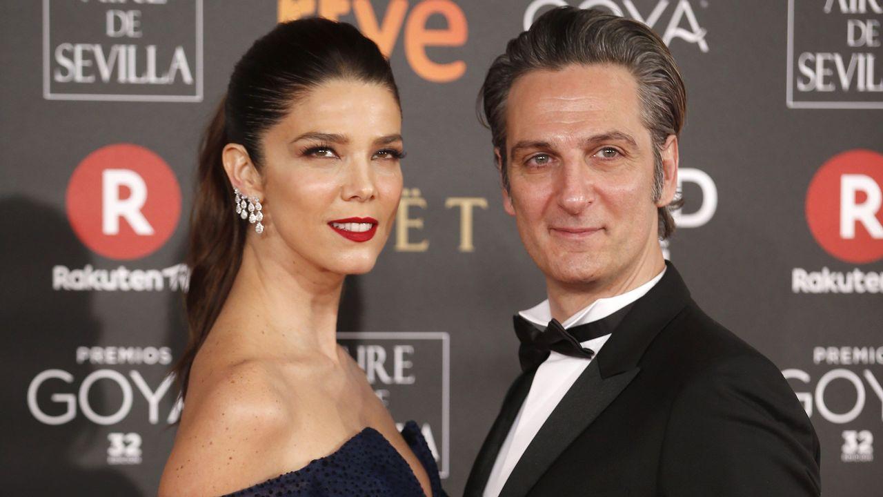 .La actriz Juana Acosta jutno a su pareja Ernesto Alterio.