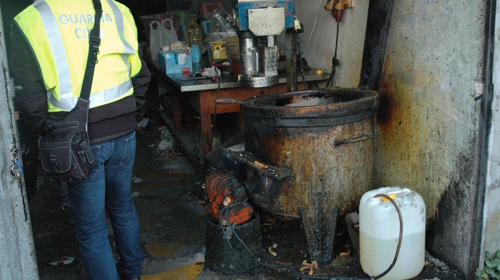 Así estaba el obrador de churros clausurado en Pontevedra.