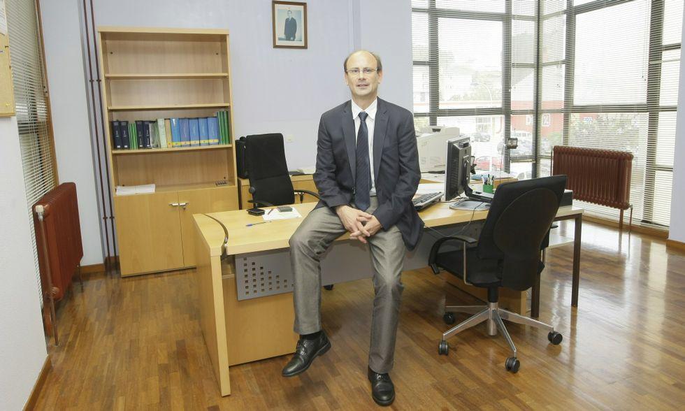 Mario Queipo es el administrador de la Agencia Tributaria en Foz desde el año 2013.