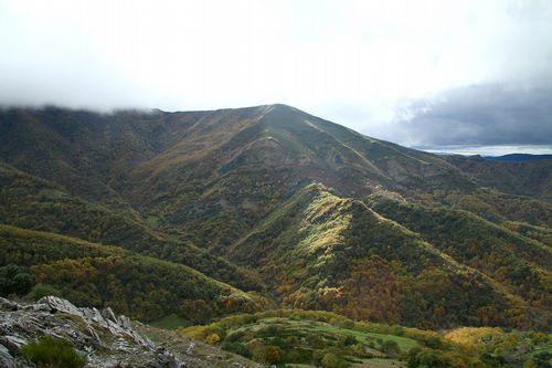 Una visita en imágenes al Carreiro do Castro de Seceda.El bosque de la Devesa da Rogueira se extiende por la falda del monte Formigueiros