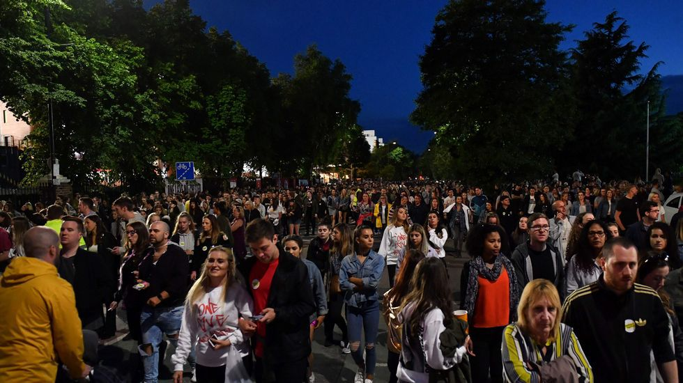 Vista del público que abarrotó el estadio