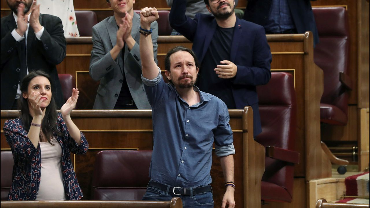 Iglesias, emocionado en el Congreso