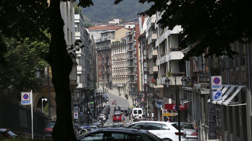 .Edificios en la calle Marqués de Pidal, en Oviedo
