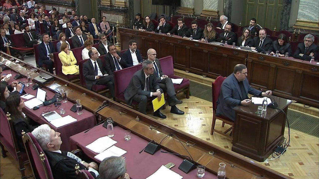 Vista general de la cárcel de Asturias.Oriol Junqueras fue el primero en intervenir en el turno de la última palabra correspondiente a los doce acusados