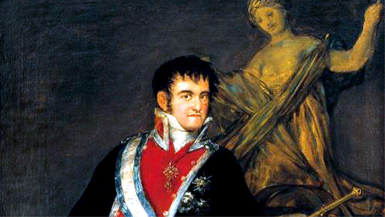 Retato de Fernando VII de Francisco de Goya perteneciente al Museo de Santander y Cantabria