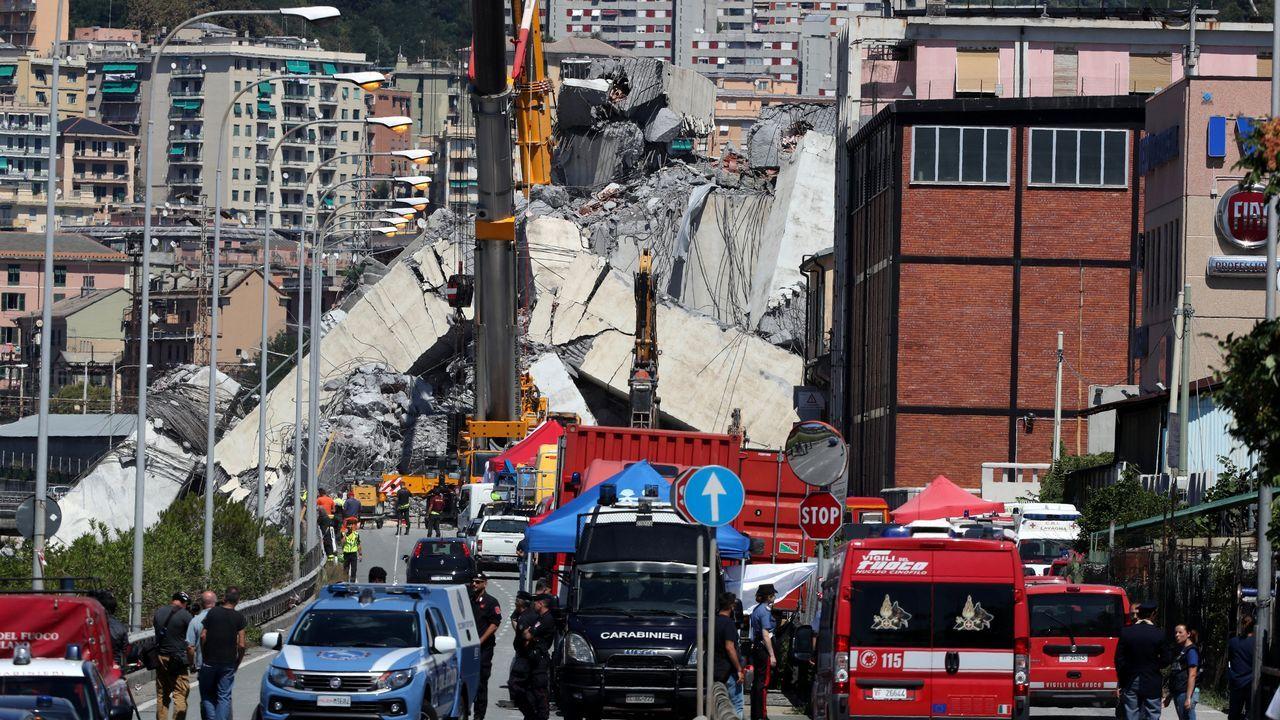 El día después de la tragedia en Génova.