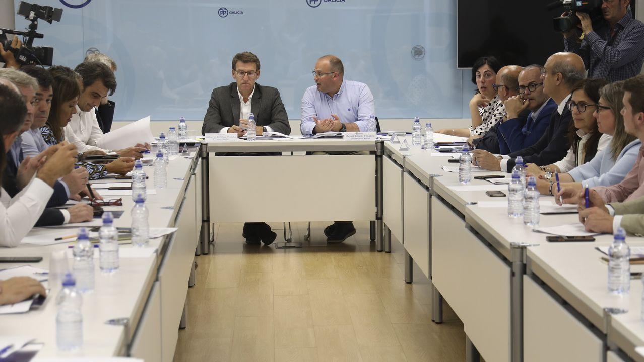 premio uni.Feijoo presidió la reunión de la dirección del PPdeG