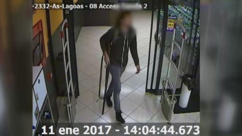 El tiroteo del supermercado de Ourense, visto a través de las cámaras de seguridad