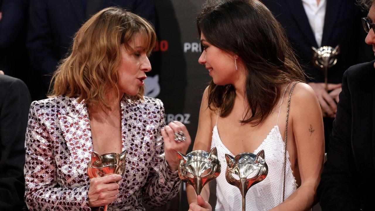 PREMIOS FEROZ  Las actrices Eva Llorach (i) y Anna Castillo, con sus galardones