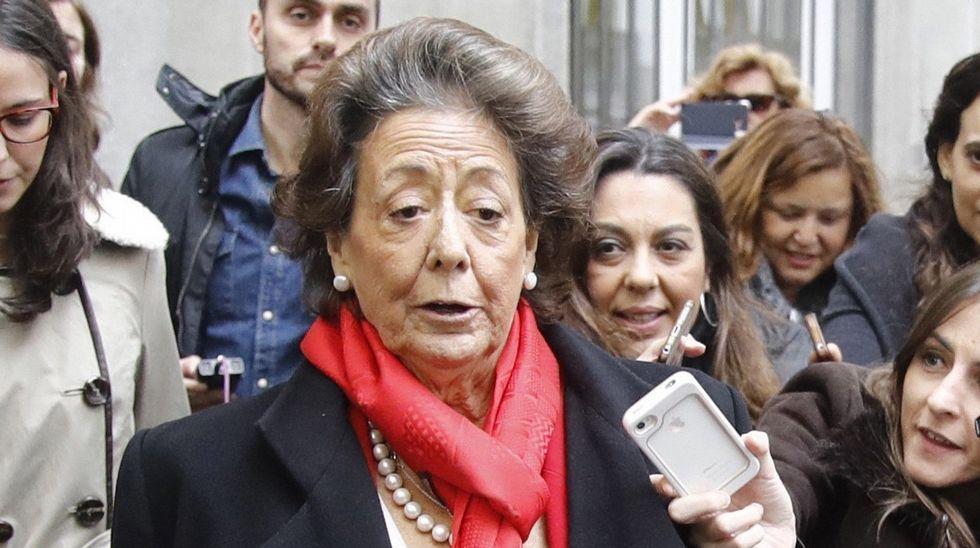 Rita Barberá tras declarar el pasado lunes como investigada por un delito de blanqueo de dinero relacionado con el caso Imelsa.