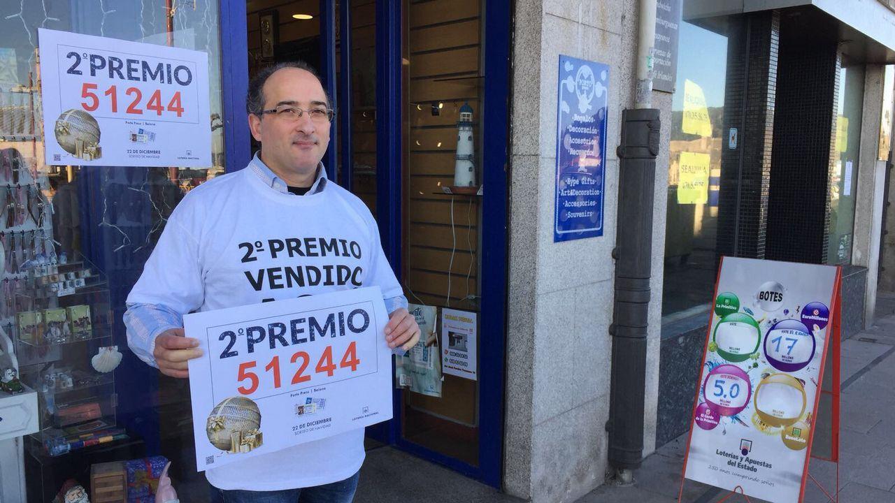 Segundo premio de la lotería vendido en Baiona: Número 51244