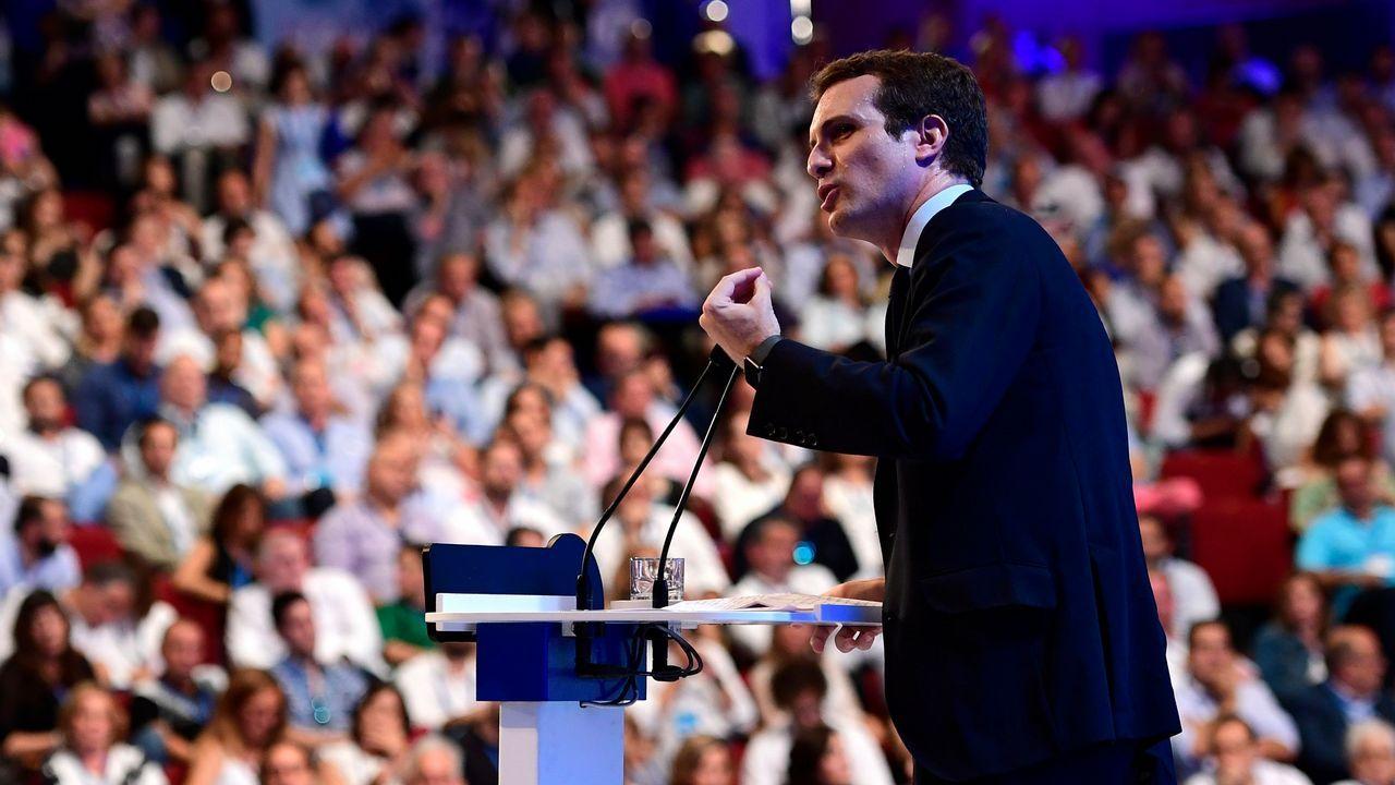 .Intervención de Pablo Casado ante el plenario del Congreso del PP
