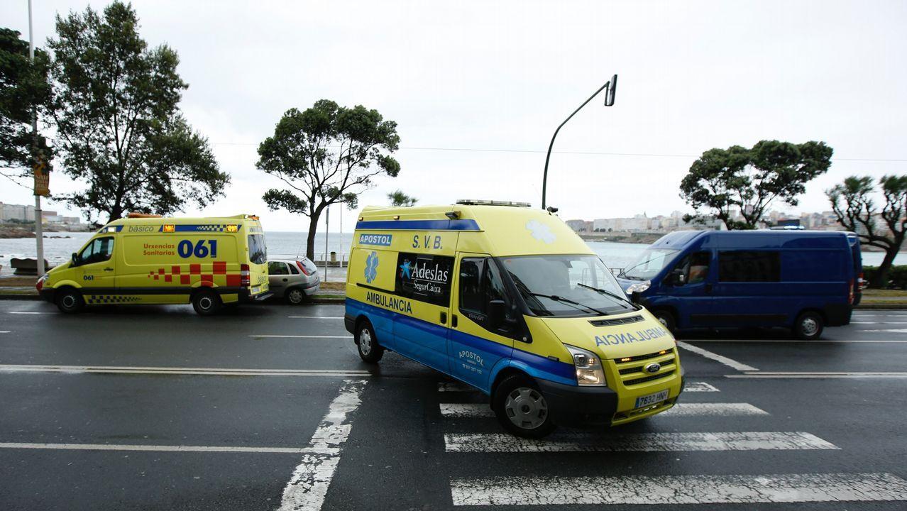 Accidente en el paseo marítimo de A Coruña