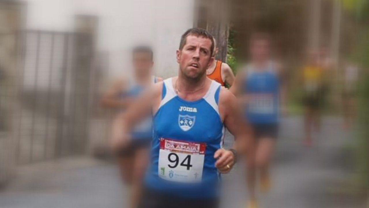 Abuín Gey en una foto de archivo durante una carrera