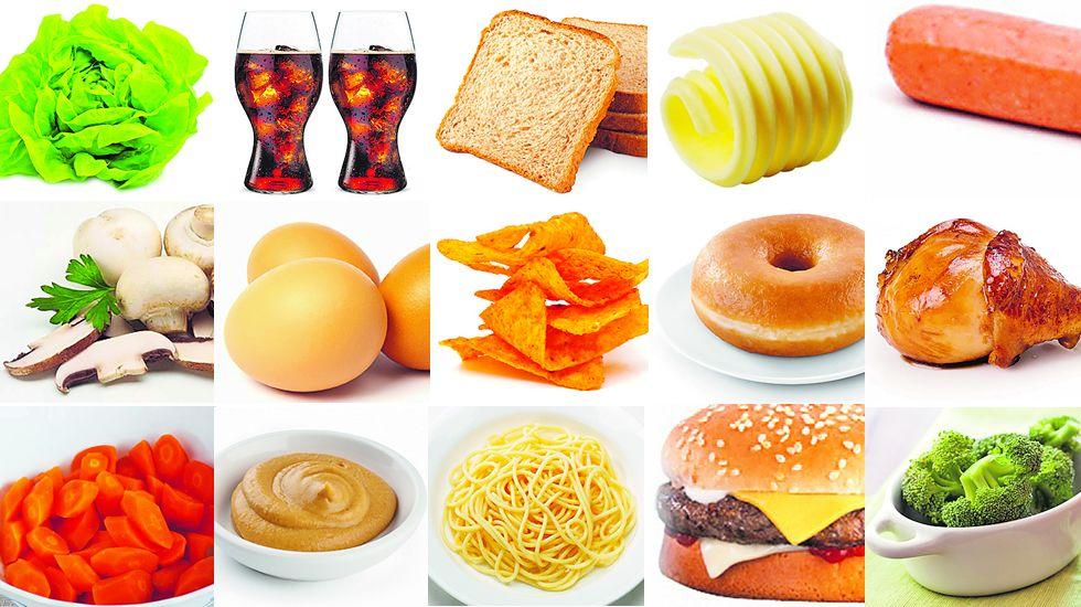 200 calorías en 15 alimentos.