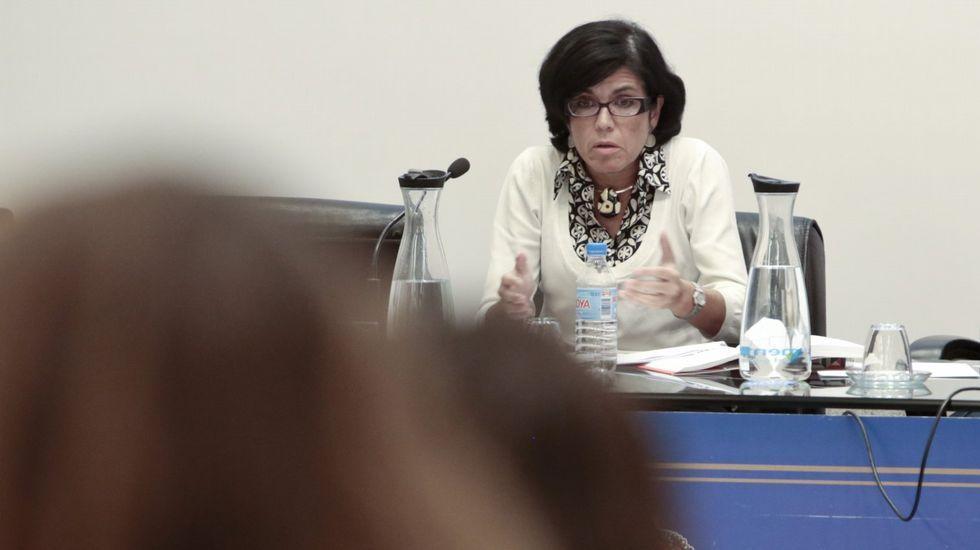Pedro Sánchez escucha cómo Javier Fernández atiende a los medios de comunicación, durante una visita a Asturias.La jueza Pilar de Lara en una imagen de archivo