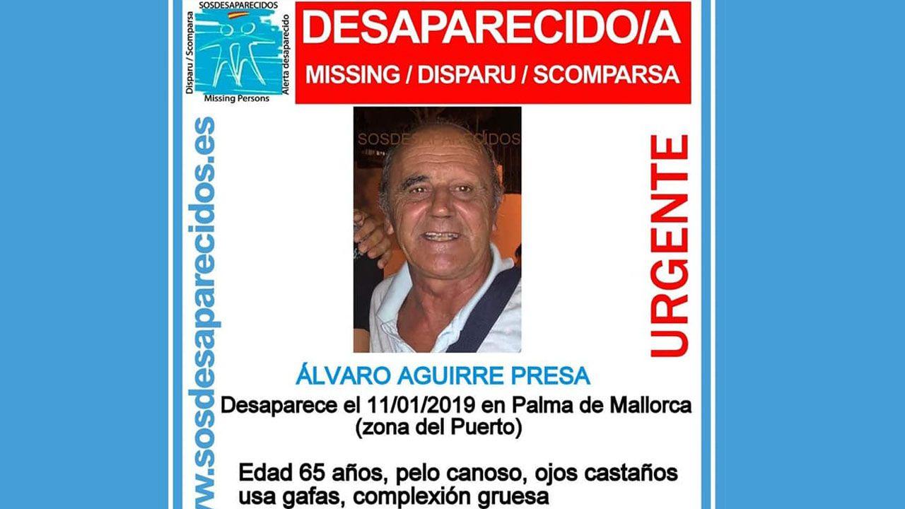 Cartel de búsqueda de Álvaro Aguirre Presa
