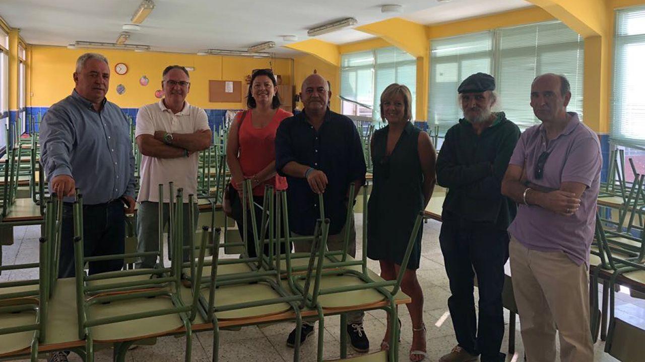 Responsables de la Xunta y el Concello, con representantes del ANPA
