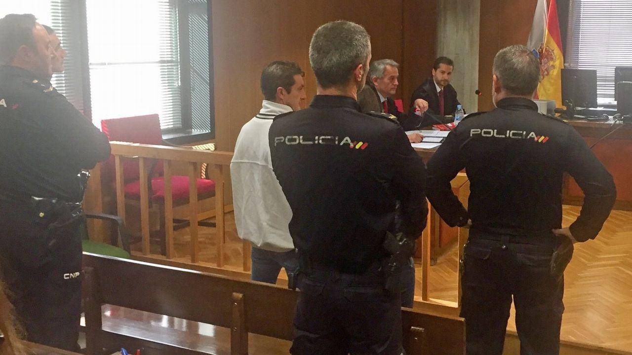 Pase a disposición judicial de los detenidos de la banda latina los Betas.Uno de los miembros de los Betas detenido