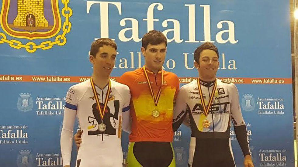 La selección Asturiana en el Campeonato de España de Ciclismo en Pista celebrado en Tafalla
