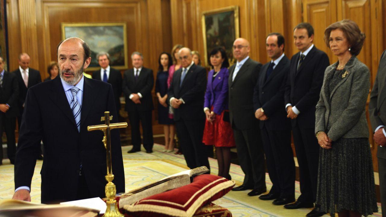 Durante la jura como Ministro del Interior en el 2008