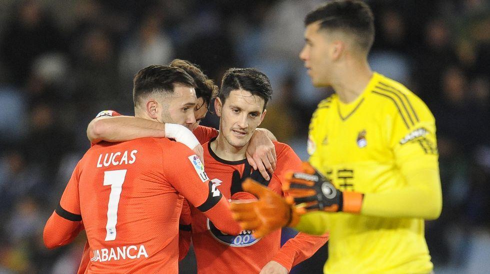 El Real Sociedad-Deportivo, en fotos.