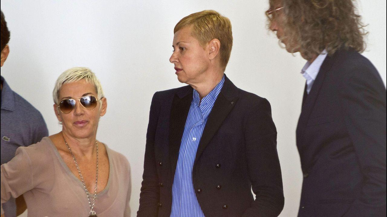 .Junto a Esther Arroyo en el juicio por el accidente que tuvieron juntas