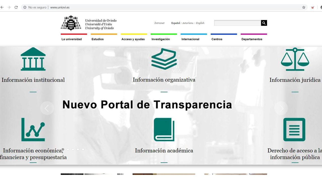 Nueva página web de la Universidad de Oviedo