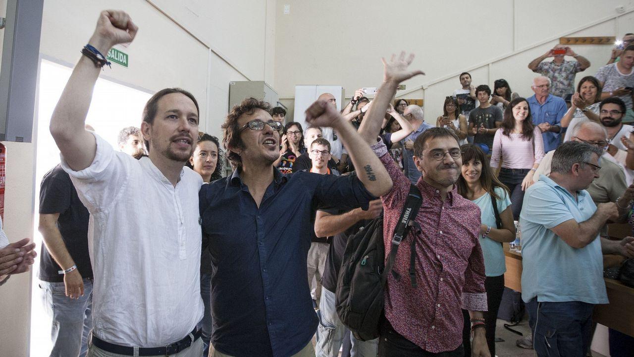 El PP y Ciudadanos presentan sus candidaturas mientras Susana Díaz pide frenar a la ultraderecha.Pablo Iglesias, durante una de sus intervenciones durante la moción de censura